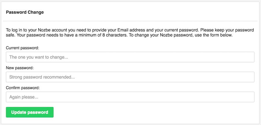 settings - account