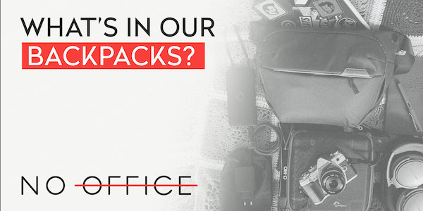 What's in our backpacks? - The No Office Podcast - remote work and dispersed team management